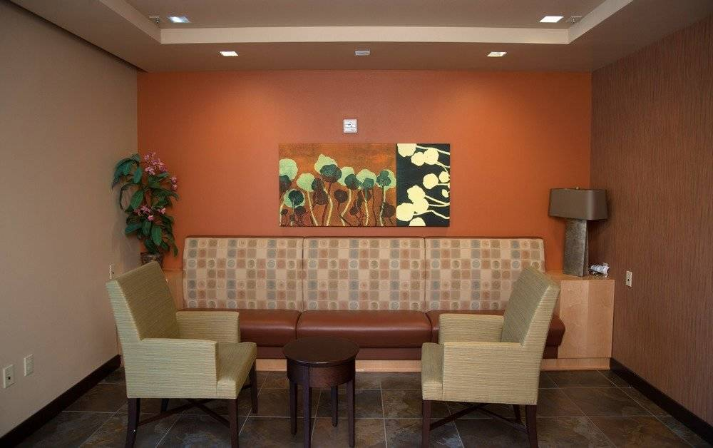 Comfortable lobby space