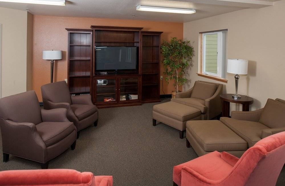 Community room with tv