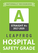 Leapfrog Hospital Safety Grade A 2017-2020
