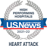 U.S.News & World Report 2021-22 Award: High Performing Hospital for Heart Attack Treatment