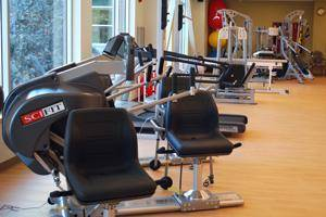 Workout room at St. Joseph Care Center