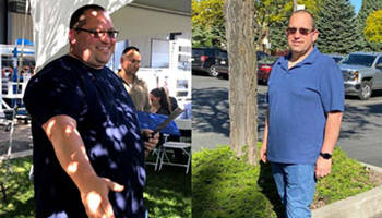 Jeff before and after weight loss