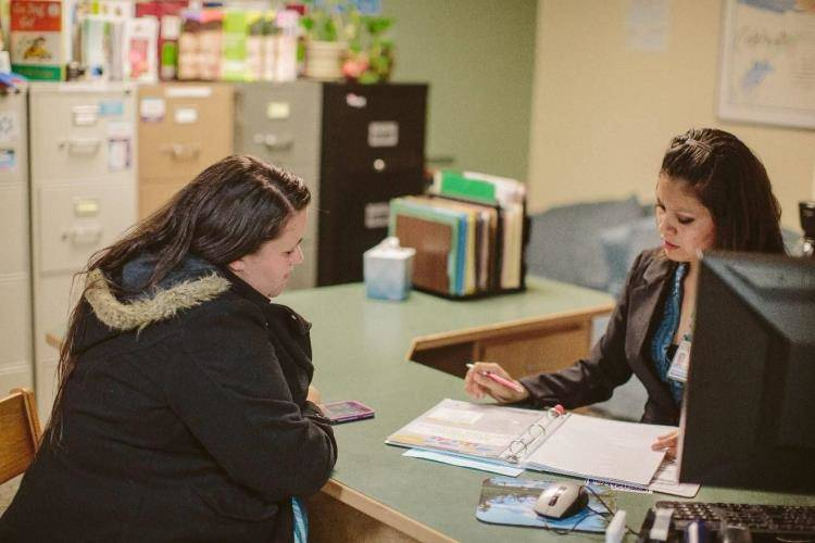 Health Kids Humboldt - discussing with caregiver