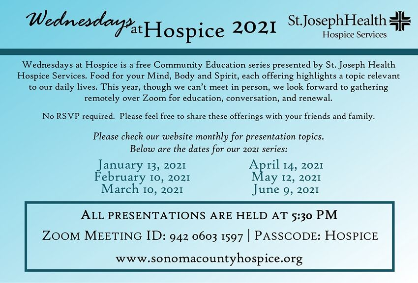 Wednesday at Hospice 2021