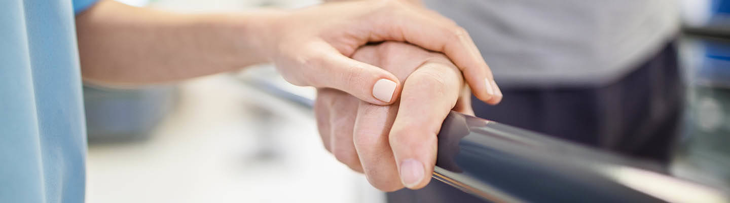 Close-up of hands during therapy