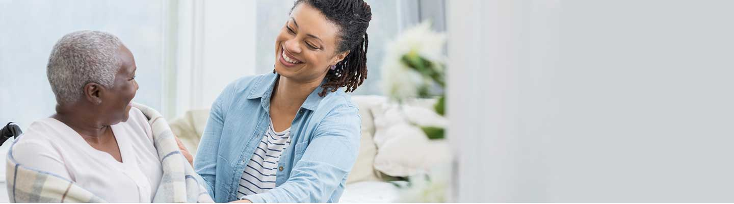 Black female caregiver with African American patient
