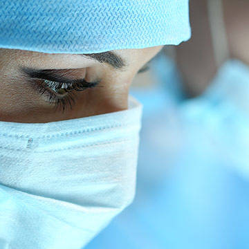 Close up of surgeons with masks