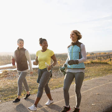 3 women on power walk