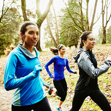 Group of women jogging at park