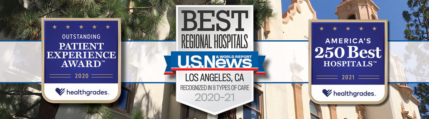 Awards for St. Joseph Hospital: Healthgrades Outstanding Patient Experience Award and America's 250 Best Hospitals